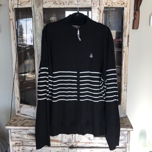 686 knit zip up sweater